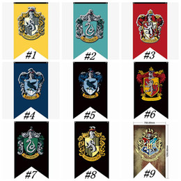 Sign flagS online shopping - Hogwarts College Party Flags Harry Potter Gryffindor Banner Sign Flag CM House Wall Decoration Banner Polyester Flags ZZA1347