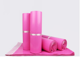 100pcs lot Pink Poly Mailer 17*30cm Express Bag Mail Bags Envelope  Self Adhesive Seal Plastic bags pouch on Sale