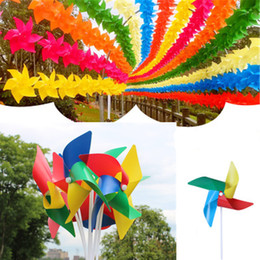 windmill Outdoor DIY Colorful Plastic Windmill Toys Pinwheel Self-assembly Windmill Children's Toy Home Garden Yard Decor Outdoor free TNT from essential oil car diffuser suppliers