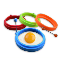 pan pancake NZ - New Silicone Fried Egg Pancake Ring Omelette Fried Egg Round Shaper Eggs Mould Cooking Breakfast Frying Pan Oven Kitchen DBC VT0460