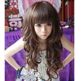 womens black wigs Australia - New Fashion Sexy Womens Lady Full Wig Long Hair Wavy Wigs Cosplay Party Free shipping