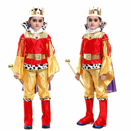king costumes NZ - Boy Kids Children Prince King Cosplay Costume Birthday Party Children'Day halloween costume for kids Christmas Halloween
