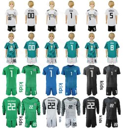 55879382b41 Germany Youth Long Sleeve Jersey Set Soccer 5 HUMMELS 9 WERNER 8 KROOS  GUNDOGAN 1 NEUER Goalkeeper Football Shirt Kits Kids 2018 2019