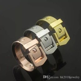 East Indian Stainless Steel Ring Australia - Michael Luxury Brand Belt Ring Jewelry 316L Stainless Steel Fashion Men Women Wedding Ring Couple Finger Ring Lover