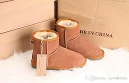 low wedge ankle boots Canada - Free shipping Australia Women Snow Boots 100% Genuine Cowhide Leather Ankle Boots Warm Winter Boots Woman shoes large size 34-44