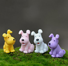 $enCountryForm.capitalKeyWord Australia - 4 Pieces Mini Dog Model Small Statue Figurine Micro Crafts Ornament Miniatures Boy DIY Home Garden Decor Doll Toy Farm