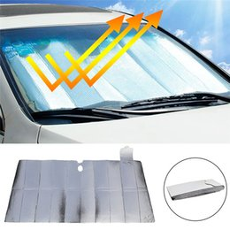 car window foil NZ - Car Windshield Sunshade Aluminum Foil Insulation Bubble Auto Front Window Heat Shield Cover Foldabler Fits For Various Sizes