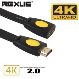 Rca video extension online shopping - Gold Plated K D HDMI Extension Cable Extender Male To Female LCD HD TV PComputer HDTV Laptop in audio video Cable