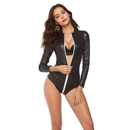 e707e9df5e Plus Size 3XL Patent Leather Jumpsuit Sexy Pole Dance Costume PVC Erotic  Underwear Super Size Nightclub Wild Dance Uniform