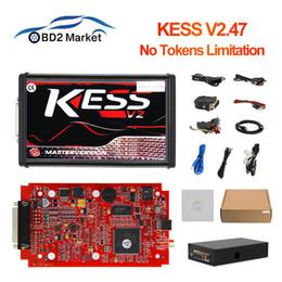 Ecu Programmer Kit Australia - Online V2.47 EU Red Kess V5.017 ECU Programmer V2 5.017 OBD2 Manager Tuning Kit KTAG V7.020 Auto Truck scan tool