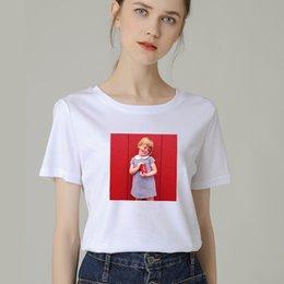 $enCountryForm.capitalKeyWord Australia - Hot Fashion Women T-Shirt Big Plus Size Tshirt Femme Print Little Girl Shirt Top White Female Tops Short Tee Shirt Funny Girl