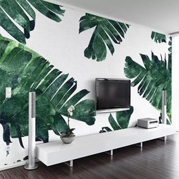 modern art simple home walls Australia - 3D Wallpaper Modern Simple Banana Plant Leaf Photo Wall Murals Living Room TV Sofa Bedroom Background Art Wall Papers Home Decor