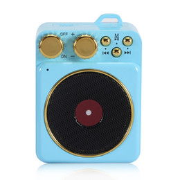 quality player Canada - 2020 new record player cross-border retro portable mobile phone audio high quality mini magnetic Bluetooth speaker