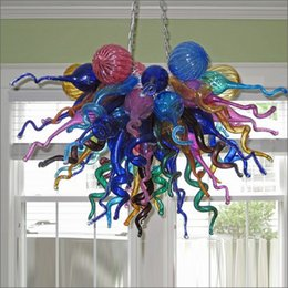 $enCountryForm.capitalKeyWord NZ - Big Sale Chihuly Style Chandelier Hand Blown Glass Chandelier Lightings Custom Made Murano Glass Pendant Lamps Home Decor LED Lights