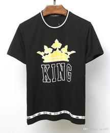 $enCountryForm.capitalKeyWord Australia - 19 SS Black and White Classic Creative Drop Letter Printing Style T-shirt Men's Summer Short Sleeve Top Pure Cotton Size M-2XL 3C36