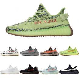 Venta al por mayor de Adidas yeezy supreme 350 2019 Static 350 V2 Zapatos para mujer Zapatillas de para hombre Zapatillas de deporte Mantequilla Sésamo Tinte azul Amarillo Cebra Deporte Zapato informal
