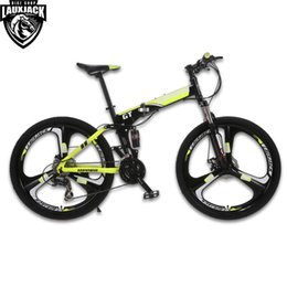 mountain alloys NZ - UPPER Mountain Bike Full Suspension Steel Foldable Frame 24 Speed Shimano Mechanic Brake Alloy Wheel