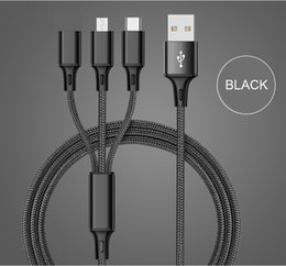 Discount iphone 6s chargers - SZAICHGSI 3 IN 1 Nylon USB Cable Type C Micro USB Charger Cable For iPhone 8 7 6 6S Plus iOS 10 9 8 USB-C Android Mobile
