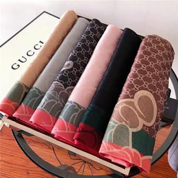$enCountryForm.capitalKeyWord Australia - Brand Scarfs For womens Scarf fashion design winter cotton with gold line Shawl Ladies Scarves Size 180x70cm