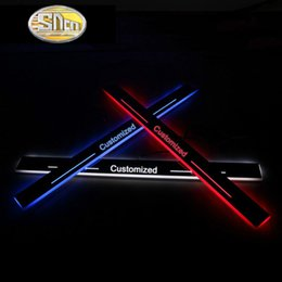 car door sill plates 2019 - wholesale Trim Pedal LED Car Light Door Sill Scuff Plate Pathway Dynamic Streamer Welcome Lamp for Toyota Prado 120 LC12