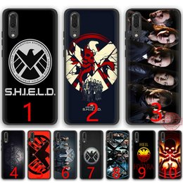 H Case Australia - agents of s h i e l d Marvel Soft Silicone Black TPU Phone Case for Huawei P8 P9 P10 P20 Lite Pro P Smart Cover