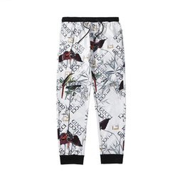 Track leTTers online shopping - Mens Luxury Track Pants Casual Designer Zipper Letters Sculpture and Animal Print Pants Hip Hop Streetwear Loose Pants Mens Brand Joggers