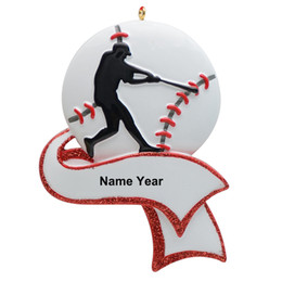 $enCountryForm.capitalKeyWord Australia - Resin Personalized Baseball Ornament for Christmas Tree Decor Gifts for Team Player Athlete, Sports Fans Baseball Amateur
