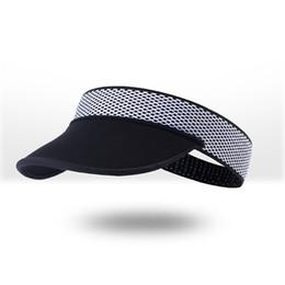 $enCountryForm.capitalKeyWord UK - Men Women Sunscreen Tennis Cap Durable Sun Hat Cycling Empty Top Soft Cool Foldable Brimmed Visor Outdoor Sports Practical