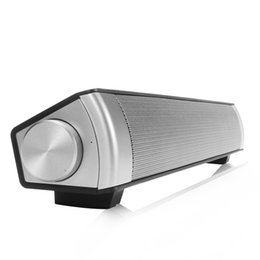 Sound Bar Portable Speakers UK - Portable Outdoor Sports Sound Bar Wireless Subwoofer Bluetooth Speaker Black