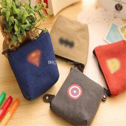 Cartoon Bats Australia - Purse Bag 4 Design Boy Captain America Bat cartoon wallet new Super hero party supplies Kids boy bag