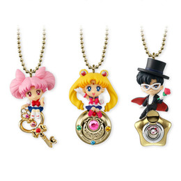 halloween sailor moon Australia - 3pcs set 5cm Twinkle Dolly Sailor Moon Tsukino Usagi Chibi Tuxedo Mask Mini PVC Figures Toys Pendants