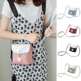 $enCountryForm.capitalKeyWord Canada - Cheap New Simple Women Shoulder Bag PU Leather Star Decoration Handbag Casual Messenger Bags Best Sale-WT