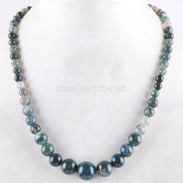 $enCountryForm.capitalKeyWord NZ - WOJIAER New Fashion Jewelry Algae Agates Gem Stone Round 6~14mm Beads Women Necklace 17.5 Inches LF3025