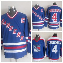 79c73f66a High Quality Mens #4 Ron Greschner Jersey CCM Vintage 1978 New York Rangers  4 Ron Greschner Hockey Jersey Cheap NYR Blue Stitched C Patch
