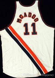 Опт дешевые Bob McAdoo #11 Buffalo Braves Джерси сшиты новые любое имя мужские белые сшитые баскетбольные майки
