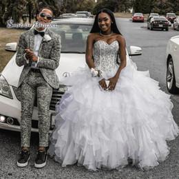 $enCountryForm.capitalKeyWord Australia - 2020 Organza Evening Dress Backless Quinceanera Dresses Party Ball Gown Elegant Strapless Beaded Top Cascading Ruffles Skirt