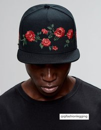 flame hats caps UK - Rose baseball cap China has hip-hop hat men's and women's embroidery flame rap street fashion hat flower versatile hat
