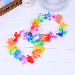 Hawaii dress online shopping - 4pcs Sets Hawaii Carnival Hula Children s Garland Suit Head Flower Ring Bracelet Children s Day Performance Clothes Maxi Dress jl A1