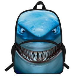$enCountryForm.capitalKeyWord UK - 2019 New 16-Inch Fashion Shark Backpack Kids Zoo Animal School Bags For Boys Students Daypack girls Travel Bag Teenagers