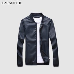 Motorcycle Jacket Stand Collar Australia - Caranfier Mens Leather Jackets Men Pu Faux Spring Fall Thin Coats Biker Punk Motorcycle Male Classic Jacket Stand Collar Zippers C19041001