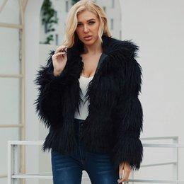 women long coat party NZ - Winter Autumn New Fluffy Faux Fur Coat For Women Warm Jacket Long Sleeve Short Artificial Fur Coat Casual Outwear Party Overcoat