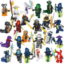 evil figures NZ - 24pcs Ninja Nya Lloyd Jay Zane Kai Cole Figure Ghost Evil Pythor Chop'rai Mezmo Serpentine Army Building Block Brick Toy
