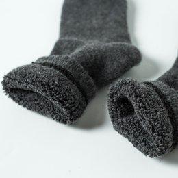 Meias de mistura de lã mens meias grossas inverno lã quente misturar o laço conforto casual dress meias mulheres venda por atacado
