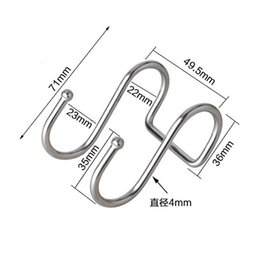 $enCountryForm.capitalKeyWord UK - 500pcs lot Home Use Stainless Steel Round S Shaped Dual Hanger Hook Kitchen Cabinet Clothes Storage Kitchen Dual Cloth Hanger