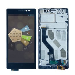 Discount touch screen for lenovo vibe - High Quality LCD Display Touch Panel Screen Digitizer Assembly with Frame For Lenovo Vibe X2 5.0 Inch with Free Tools