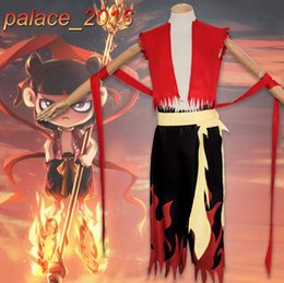 male full belt Australia - NE ZHA Anime Mythological Story Cosplay Costume Uniform Pants Outfit Belt Suits