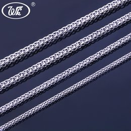 Long 24 Inch Chain Australia - WK 925 Silver Chain Necklace 16 18 20 22 24 26 Inch 0.8MM 1MM 1.3MM 1.6MM Thin Thick Short Long Chain Jewelry Women Men W3 NA013
