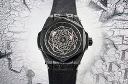 Coating Cnc Australia - Top Luxury Watch 27 diamond Swiss 1213 Automatic 28800 vph CNC Black 316L Steel Case coating Sapphire Skeleton Dial Remove Leather strap