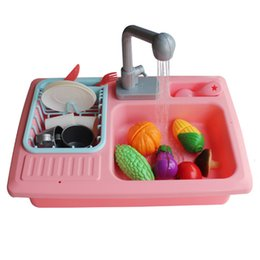 $enCountryForm.capitalKeyWord NZ - Children'S Small Kitchen Play Water Cleaning Toys Small Pool Play Home Kindergarten Automatic Circulation Sink Sink Dishware S