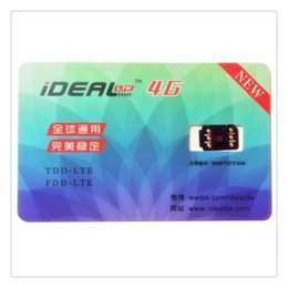 Wholesale GSM G Unlock Sim Card LTE iOS Plug and Play for iPhone S Plus Free DHL